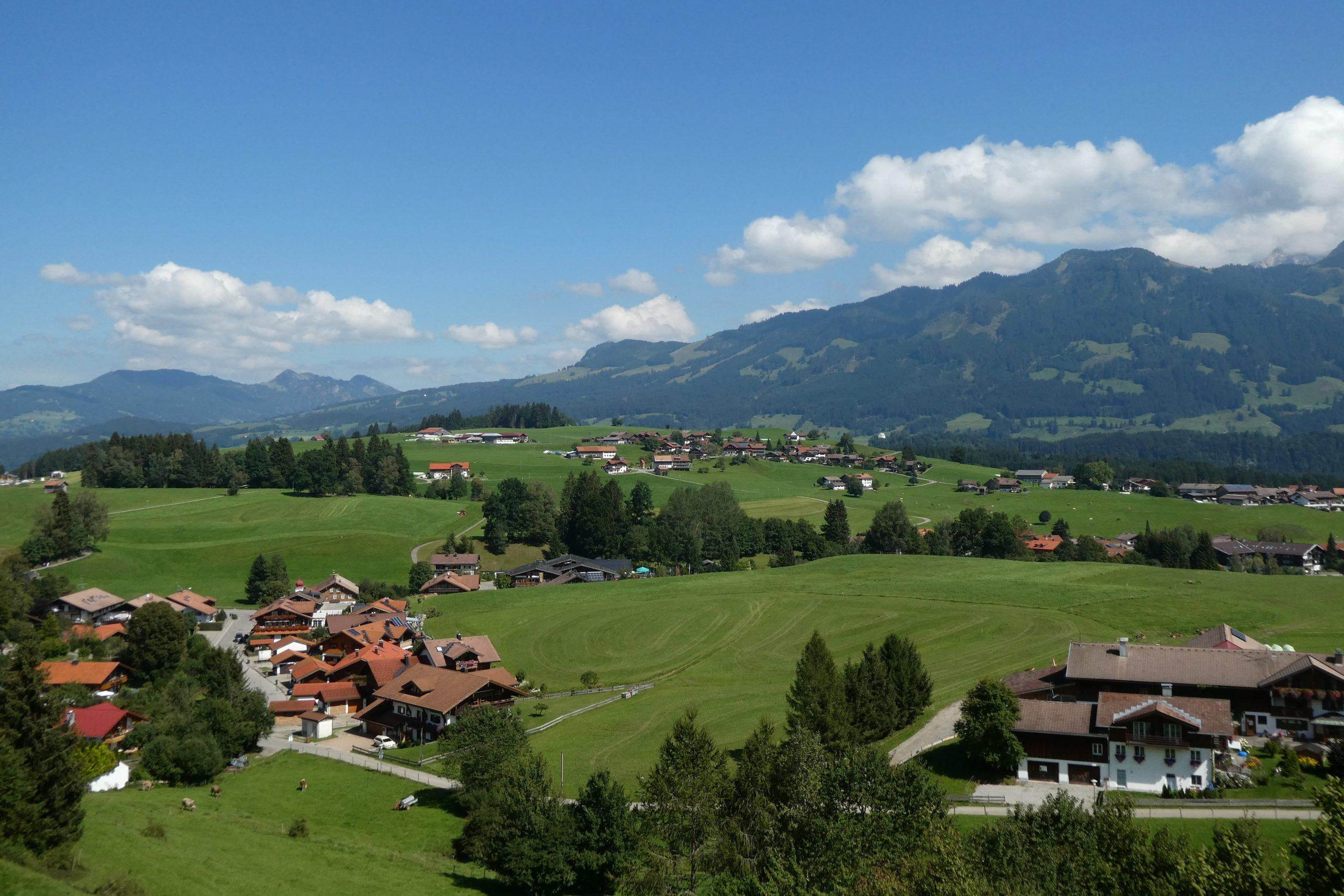 Ferienhaus Sauter Oberdorf Obermaiselstein - Oberdorf mit Alpenpanorama von oben