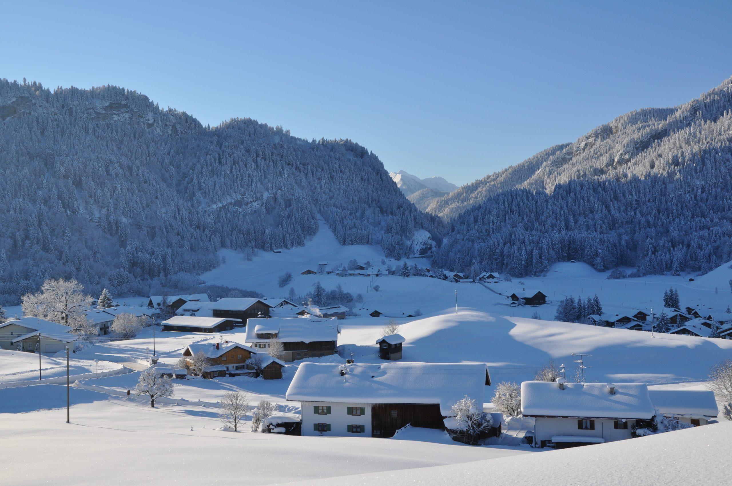 Ferienhaus Sauter Oberdorf Obermaiselstein - Winterlandschaft im Allgäu